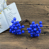 25Pcs 50heads 0.6cm Berry Bacca Artificial Flower For Wedding Decoration DIY Scrapbooking Decorative Wreath Fake Flowers