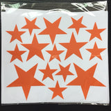 110pcs 5/4/2.5cm 3size mix Star pattern cute Wall Sticker for kids Easy Removable Waterproof ECO material for kids room decor