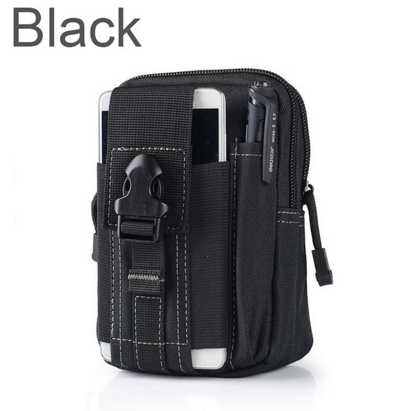 Universal Outdoor Tactical Holster Military Molle Hip Waist Belt Bag Wallet Pouch Phone Case with Zipper for iPhone 7 /LG