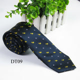 High Quality  Men's Ties Solid Narrow Neckwear Polka Dot Twill Mens Skinny Silm Necktie