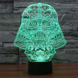 Star Wars BB8 droid 3D Bulbing Light toys 7 color changing visual illusion LED lamp Darth Vader Millennium Falcon toy