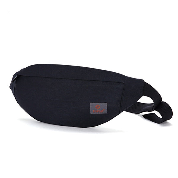 Men Male Casual Functional Fanny Bag Waist Bag Money Phone Belt Bag Gray Black