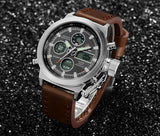 Top Brand Luxury Mens Swimming Digital LED Quartz Outdoor Sports Watches Military Clock With Leather Strap