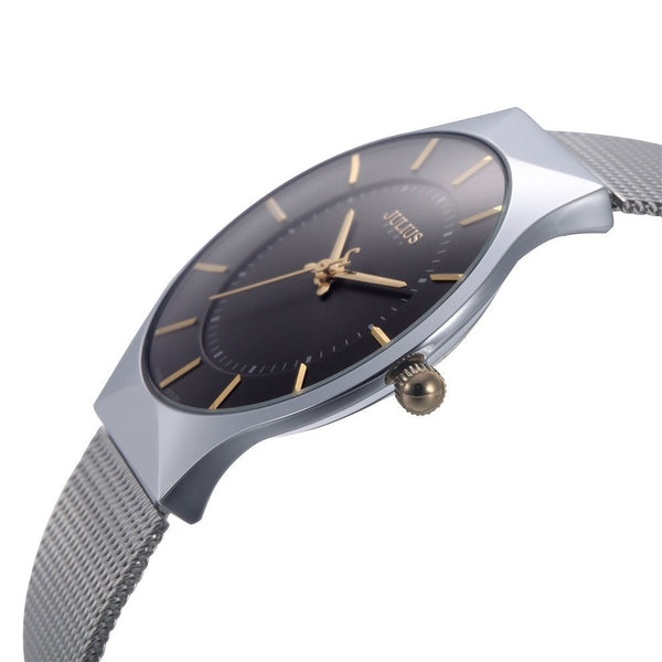 9542a4ad59e Top Brand Julius Men s Watches Stainless Steel Band Net Belt Analog Sp –  Luxberra