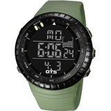 Cool Black Mens Fashion Large Face LED Digital Swimming Climbing Outdoor Man Sports Watches