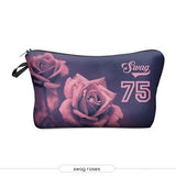 3D Printing Girls Makeup Bags With Multicolor Pattern Cute Cosmetics Pouches For Travel Women Cosmetic Bag