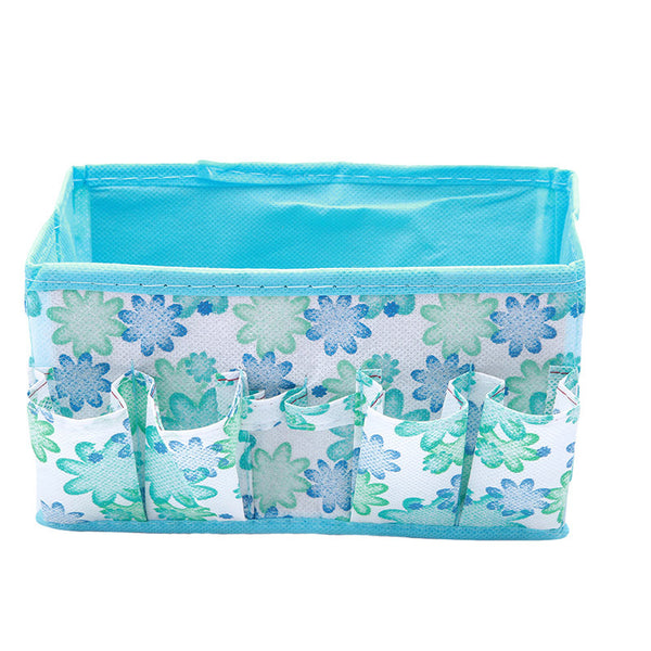1pc Multifunction Open Cosmetic Bag Beauty Floral Organizer Make up Bag Folding Makeup Cosmetics Storage Box