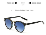 Vintage Round Sunglasses Women Brand Designer Eyewear UV400 Gradient Female Retro Sun Glasses