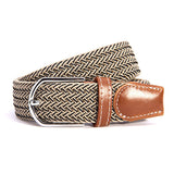 31 Colors Men Women's Canvas Plain Webbing Metal Buckle Woven Stretch Waist Belt