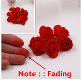 30pcs/Bag Can Mix Color Mini PE Foam Rose Flower Head Artificial Rose Flowers Scrapbooking Handmade DIY Wedding Home Decoration