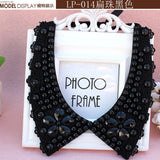 Vintage black lace beaded collar choker collar necklace fake collar women 's clothing accessories