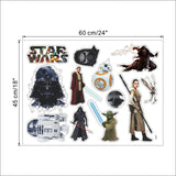 Movies Star Wars Wall Stickers Death Star Darth Vader Robot YODA figure Art Decals for kids room computer refrigerator sticker