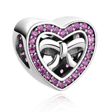 18 Styles Authentic 925 Sterling Silver European Heart, Bow Knot, Tree Charm Beads Fit Pandora Bracelet Pendant Original Jewelry