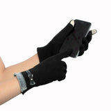 Fashion Elegant Womens Touch Screen Gloves Winter Warm Soft Wrist Glove Mittens