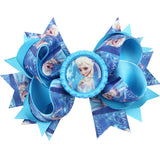 10 Colors Baby Girls Hair Bow Hair Pins Princess Elsa Anna Ribbon With Alligator Clip Kids Hair Accessories