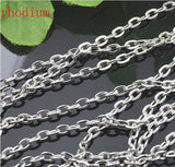 10m/lot Rhodium/Silver/Gold/Gunmetal/Antique Bronze Plated Necklace Chains Brass Bulk for DIY Jewelry Making Materials