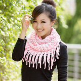 Fashion Women Scarves Autumn Winter Warm Knit Wool Scarf Circle Shawl Wrap Ring Scarf 10 Colors