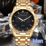 Chenxi Clock Gold Fashion Men Watch Stainless Steel Quartz Watches Wrist Watch