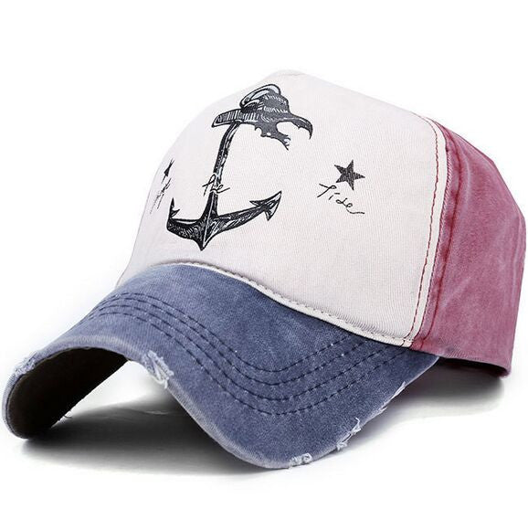 Do old pirate ship anchor sun hat 7 colors, Man Woman pure cotton baseball caps