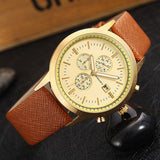 Men Watch Mens Top Luxury Brand Leather Strap Casual Quartz Sports Waterproof Watches Wristwatches