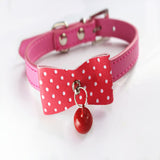Knit Bowknot Adjustable Leather Dog Puppy Pet Collars Necklace,Collars For Dogs,Cat collar perro,Size XS S M