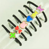 10 Pcs / Lot Women Girl Hair Bands High Quality Rubber Bands Hair Elastics Accessories Girl Women Korea Style Rubber Band