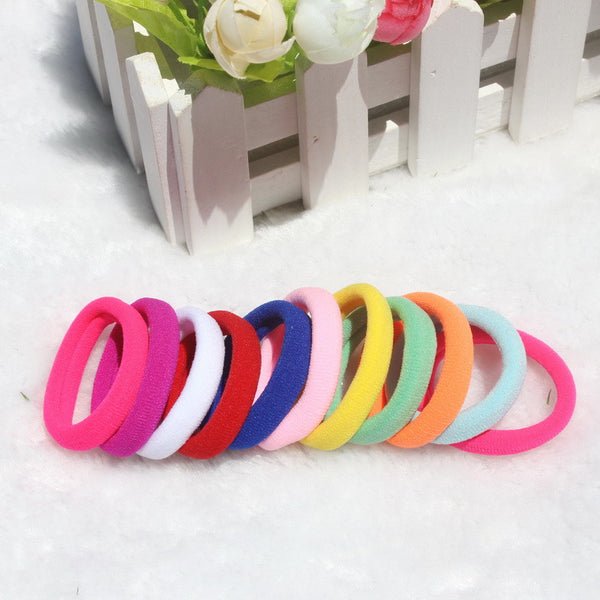 50pcs Candy Colored Hair Holders High Quality Rubber Bands Elastics Hair Accessories Girl Tie Gum headwear for women