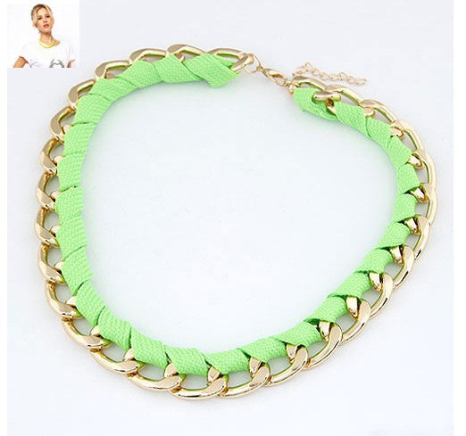 Fashion Jewelry Trendy Women Necklaces & Pendants Weave Link Chain Short Chokers Necklace