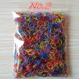 1000pcs/bag (small package) 2015 New Child Baby TPU Hair Holders Rubber Bands Elastics Girl's Tie Gum