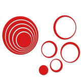 1 Set Indoors Decoration Circles Creative Stereo Removable 3D DIY Wall Stickers