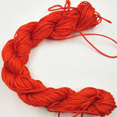 10 Color Nylon Cord Thread Chinese Knot Macrame Rat Tail For DIY Bracelet Braided