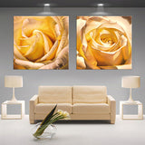 Modern 3D white lotus definition pictures canvas Home Decoration living room Wall modular painting Print (no frame) 2pcs