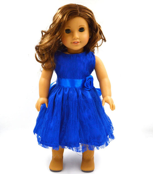 Handmade 15 Colors Princess Dress Doll Clothes for 18 inch Dolls American Girl Doll Clothes and Accessories