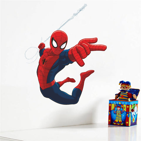 hero spiderman wall stickers for kids rooms decals home decor kids