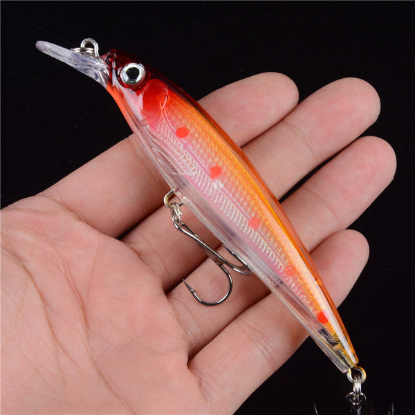 1pcs Floating Minnow Fishing Lure Laser Hard Artificial Bait 3D Eyes 11cm Fishing Wobblers Crankbait Minnows