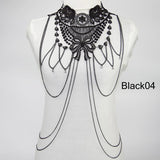 Multi layer Body Chain Women Tassel Necklaces & pendants Black Lace Body Chains Women Jewelry Maxi Collar