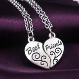 Fashion Friendship Broken Heart 2 Parts Best Friend Necklaces & Pendants Heart or Ying Yang Necklaces