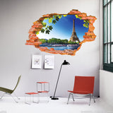 Tree Lined Trail 3D Sticker Wall Sticker 23.62in x 35.43in Poster Bedroom House Mural Wall Decals Home Decor