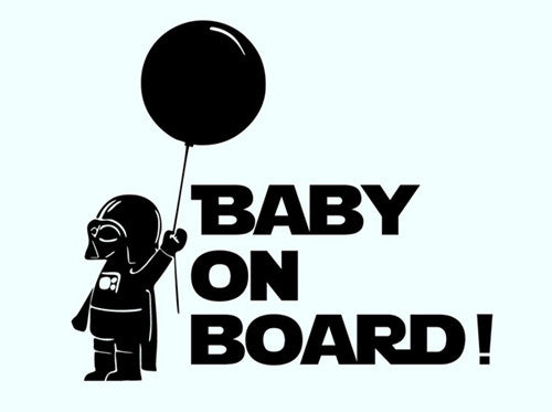 Car Decoration Star Wars Baby On Board Reflective Car Stickers And Decals