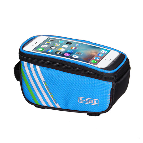 Bicycle Frame Front Head Top Tube 1.5L Waterproof Touchscreen Bicycle Bag for Cycling Mountain Road Bike