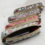 1 Pcs Fashion Mini Retro Flower Floral Lace Pencil Shape Pen Bag Make up Bag Zipper Pouch Purse