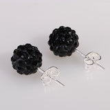 10 Color 8mm Shamballa Earrings Micro Disco Ball Shamballa Round CZ Stud Earrings For Women Fashion Jewelry