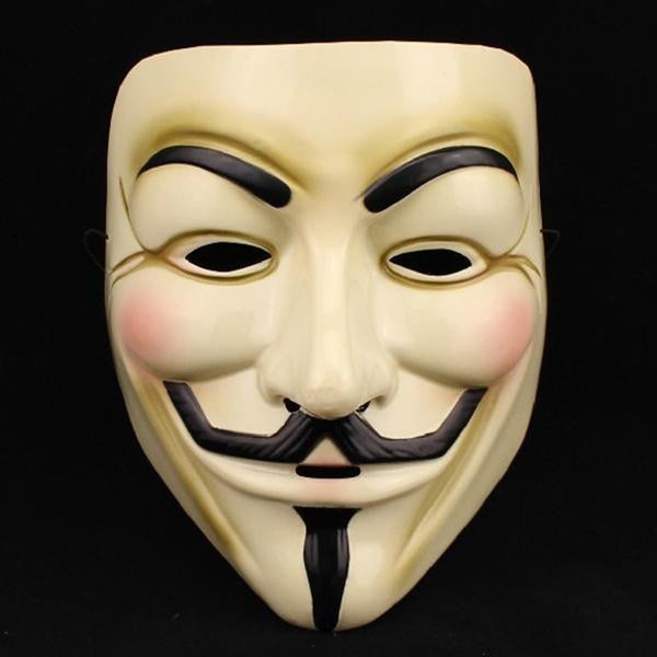 1PCS  Party Masks V for Vendetta Mask Anonymous Guy Fawkes Fancy Dress Adult Costume Accessory Party Cosplay Masks