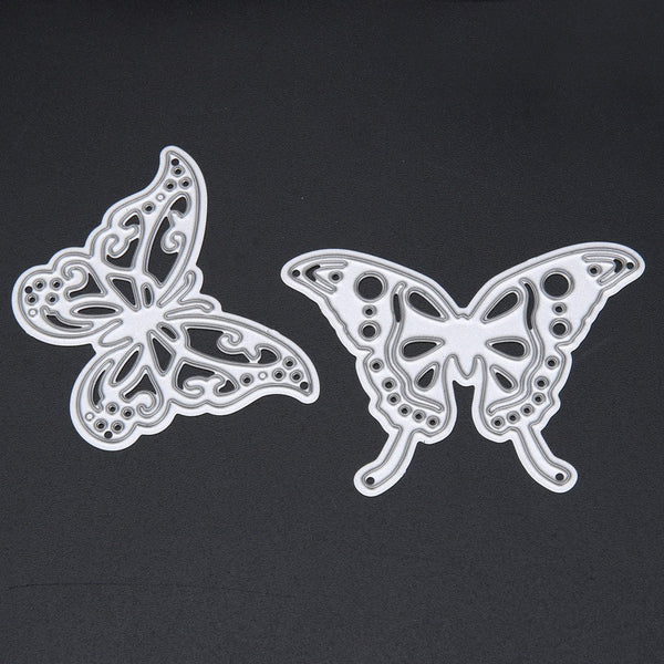 2pcs/set Cutting Dies Metal Butterfly Cutting Dies Stencils for DIY Cutting Dies Die Cut Stencil Decorative Scrapbooking Craft