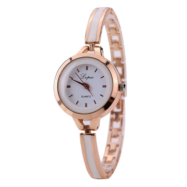 Lvpai Fashion Luxury Women Dress Gemstone Quartz Wristwatches Ladies Casual Golden Silver Women Dress Quartz Watches