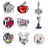 Fashion Jewelry 1pc Silver Plated Bijoux Love Family Beads Fit Pandora Charms Bracelet Jewelry Making Cartoon Bead