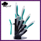 "Myvit brand 3"" 4"" 5"" 6"" + Peeler + Knife Holder Ceramic Knife Set White Blade Top Quality Kitchen Knives Set"