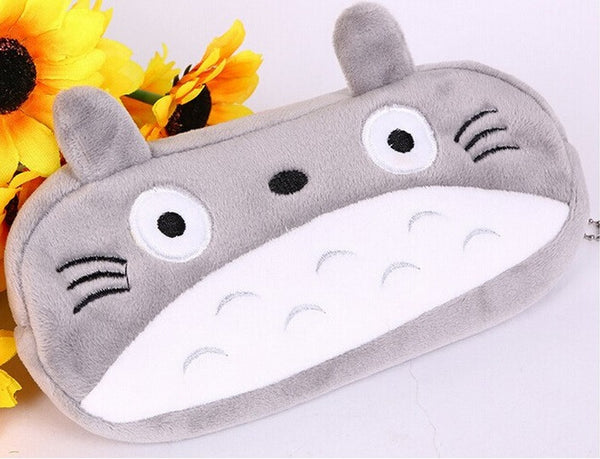 Cute kawaii 3D plush panda pencil case large capacity school supplies noverty item for kids multifunctional
