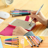 1 Pc Cute Crystal Pen Diamond Ballpoint Pens Stationery Ballpen 2 In 1 Crystal Stylus Pen Touch Pen