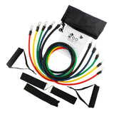 Resistance Band Set with Door Anchor, Ankle Strap, Exercise Chart & Resistance Band Carrying Case